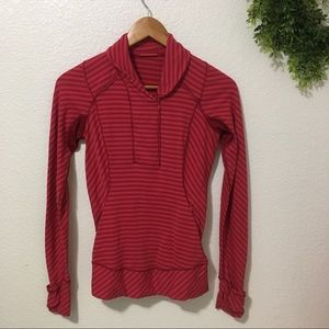 Lululemon Think Fast Pullover in Cranberry